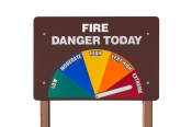 Extreme Fire Danger Today Sign Isolated