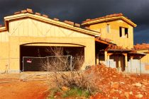Home Construction Sunset Storm Sky